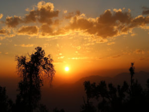 Sunset at Nag Tibba Base Camp