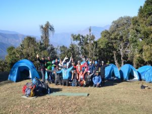 Basecamp at Nag Tibba Trek